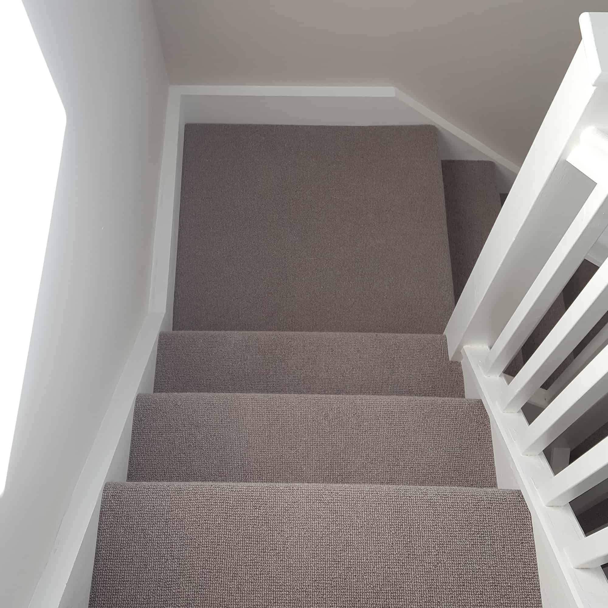 Light grey stair carpet