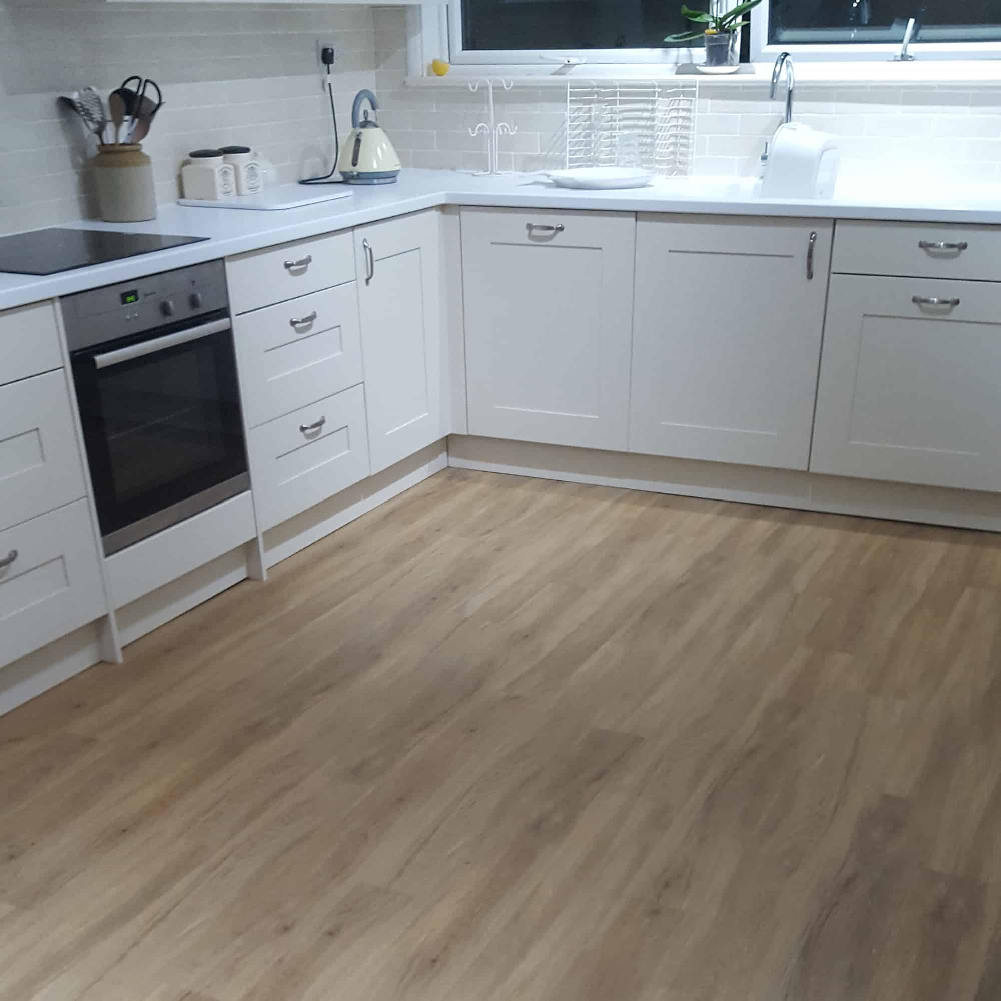 Wood effect kitchen flooring
